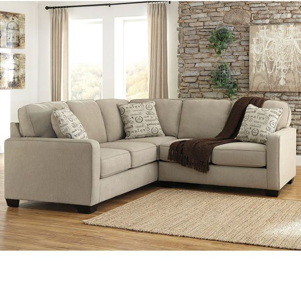 Lovely 2PC Beige Sectional With LAF S