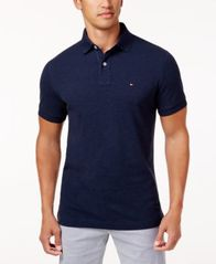 Image of Tommy Hilfiger Men's Custom Fit Ivy Polo, Created for Macy's