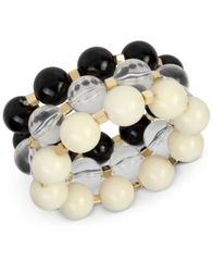 Image of IRIS X INC International Concepts Gold-Tone 3-Pc Set Large Beaded Stretch Bracelets, Created for Mac
