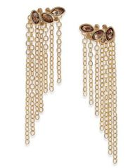 Image of Thalia Sodi Gold-Tone Stone & Chain Drop Earrings, Created for Macy's
