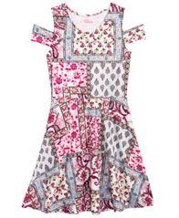Image of Epic Threads Patchwork Cold-Shoulder Dress, Big Girls (7-16), Created for Macy's