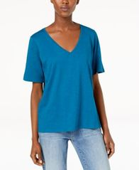Image of Eileen Fisher Organic Cotton Top, Regular & Petite