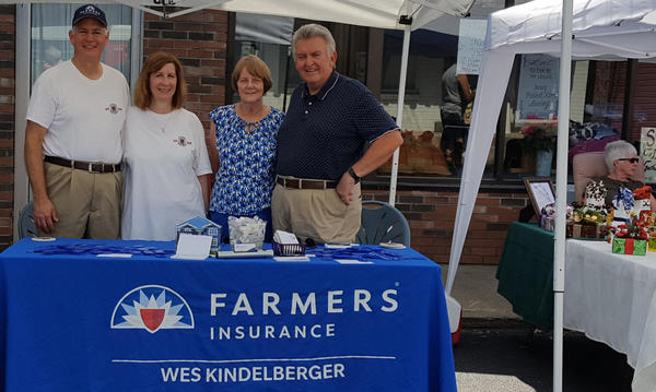 Representing Wes Kindelberger Farmers Insurance Agency at the Export Ethnic Food and Music Festival