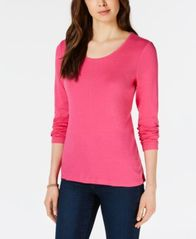Image of Maison Jules Scoop-Neck Top, Created for Macy's