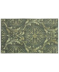 "Image of Bacova Marbella Damask Tierra Grey 19.7"" x 32.8"" Accent Rug"