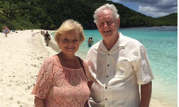 John and his wife Janet in St. Thomas. A vacation they were awarded for outstanding performance!