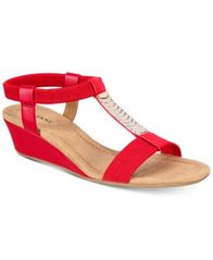 Image of Alfani Women's Vacay Wedge Sandals, Created for Macy's