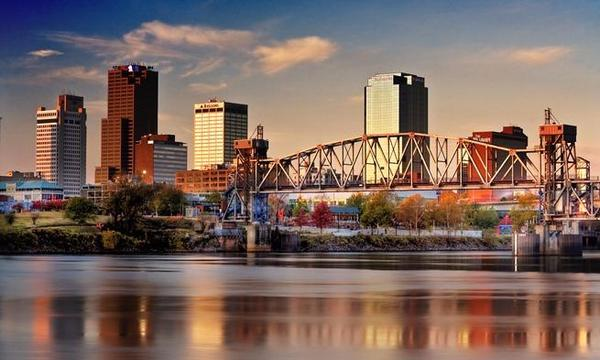 One of the most beautiful skylines in America.  Little Rock , Arkansas.