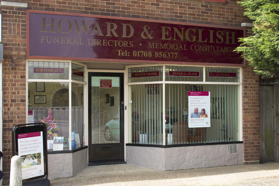 Howard & English Funeral Directors in South Road, South Ockendon