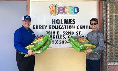 Me and my son, Luke, delivering topsoil for Holmes Ave Early Education Center's 'Little Farmers' Garden.