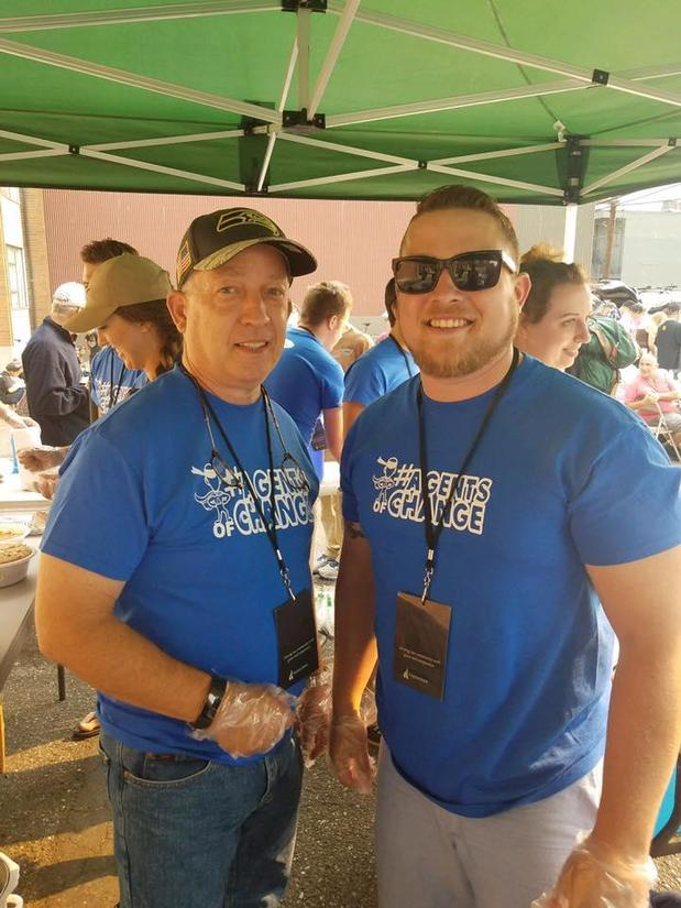 Michael McGinness - Father and Son working together to feed the less fortunate