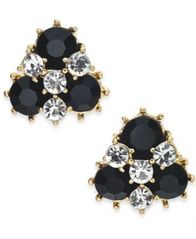 Image of Charter Club Gold-Tone Crystal & Stone Cluster Stud Earrings, Created for Macy's