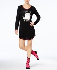 Image of Jenni by Jennifer Moore Graphic Sleepshirt and Socks Set, Created for Macy's