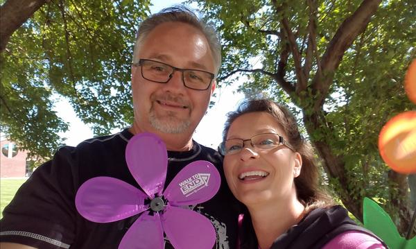 Dean & Janel 2016 Walk to End Alzheimer's to raise awareness.