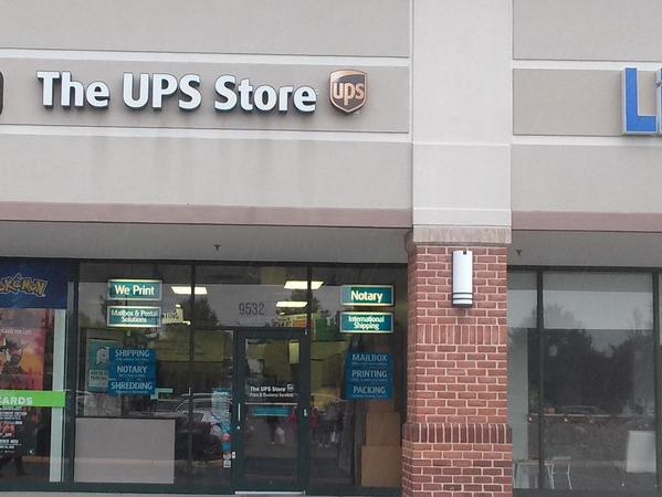 Exterior storefront image and sign for The UPS Store 4988 in Manassas