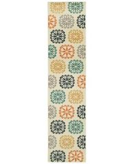 "Image of CLOSEOUT! JHB Design Soleil Sunburst Multi 1'10"" x 7'6"" Indoor/Outdoor Runner Rug"