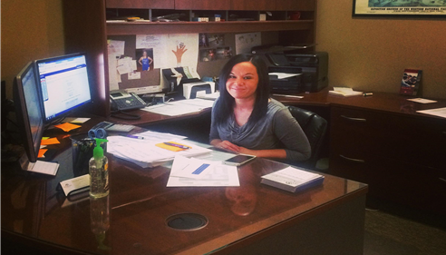 Our CSR, Megan. Stop by for a visit, 3200 Mesa Way, Suite D, Lawrence, KS.