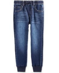 Image of Epic Threads Knit Denim Jogger Pants, Little Boys (4-7), Created for Macy's