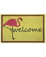 "Image of Bacova Flamingo Welcome 18"" x 30"" Doormat"
