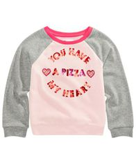 Image of Epic Threads Toddler Girls Pizza Heart Sweatshirt, Created for Macy's