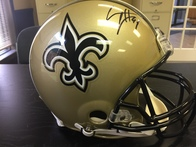 Ann Arcement Allstate Insurance Raffle to win offical autographed Drew Brees Saints Helmet