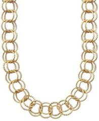 Image of Betsey Johnson Textured Round-Link Necklace