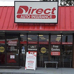 Front of Direct Auto store at 1115 South Pollock Street, Selma