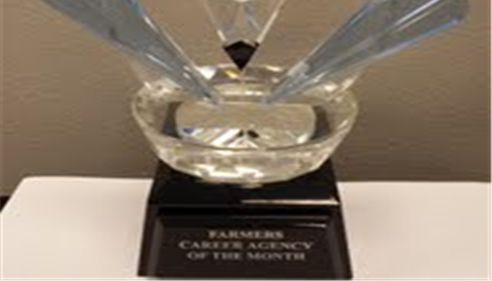 Agency of the Month Award-- O'Fallon, Missouri, St. Louis, Missouri