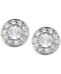 Image of Givenchy Silver-Tone Small Crystal Pavé Stud Earrings