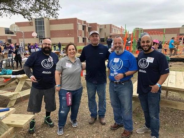 Mark Francis - Allstate Volunteers Build Playground for Houston Youth