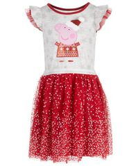 Image of Peppa Pig Little Girls Santa Dress