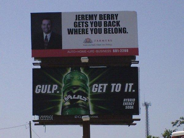 Billboard advertising!