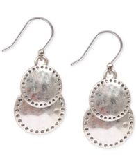 Image of Lucky Brand Silver-Tone Double Drop Earrings