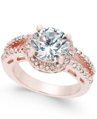 Image of Charter Club Rose Gold-Tone Crystal Ring, Created for Macy's