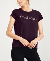 Image of Calvin Klein Metallic Logo T-Shirt