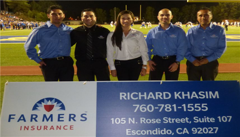 San Pasqual High School Last Game Sponsored by Khasim Insurance Agency