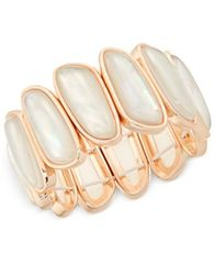 Image of Charter Club Shell-Look Stretch Bracelet, Created for Macy's