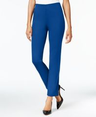 Image of JM Collection Hollywood Ponte-Knit Pull-On Pants, Created for Macy's