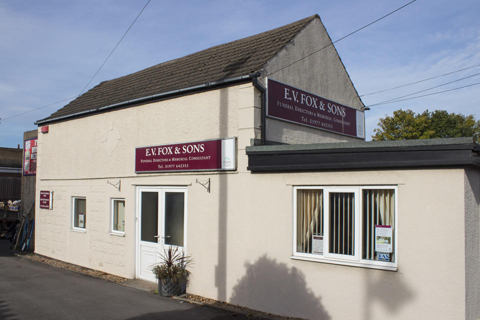 E V Fox & Sons Funeral Directors in 44 Barnsley Road, South Elmsall, Pontefract