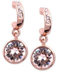 Image of Givenchy Earrings, Rose Gold-Tone Swarovski Silk Crystal Drop Earrings
