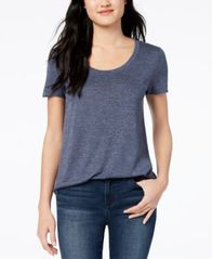 Image of Maison Jules Scoop-Neck T-Shirt, Created for Macy's