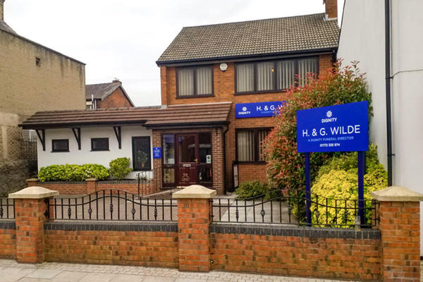 We are H. & G. Wilde Funeral Directors in Bamber Bridge, Preston.