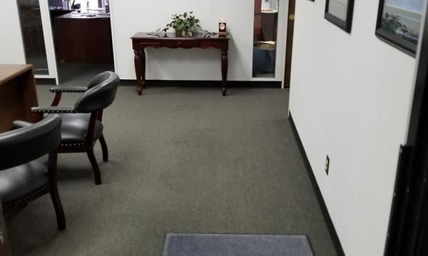 Inside of agent Keith Smith's office