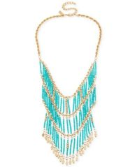 Image of M. Haskell for INC International Concepts Gold-Tone Beaded Statement Necklace, Created for Macy's