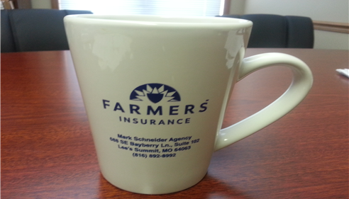 Mark Schneider Agency coffee cup.