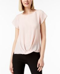 Image of I.N.C. Draped-Hem Top, Created for Macy's