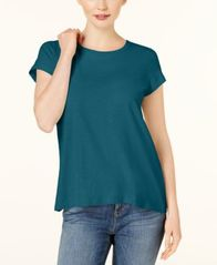 Image of Eileen Fisher Organic Cotton Crew-Neck T-Shirt