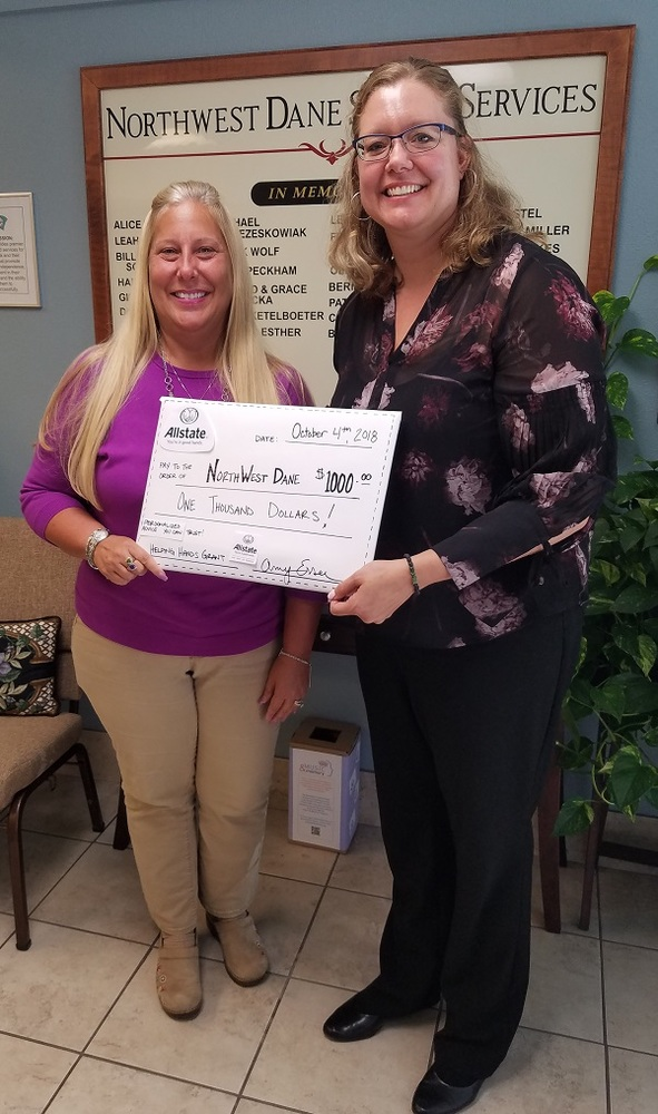 Amy Esser - Allstate Foundation Helping Hands Grant for Northwest Dane Senior Services, Inc.