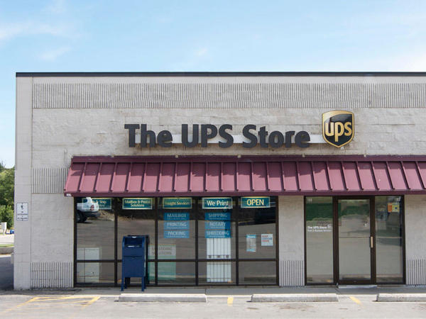 front of the ups store at 1430 Haines Ave