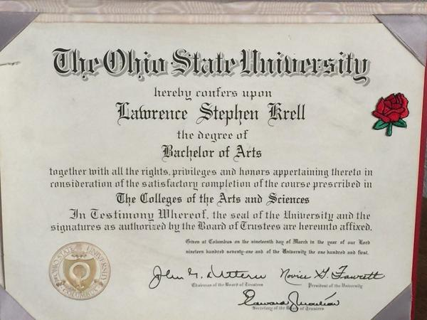 Graduate of the Buckeye State
